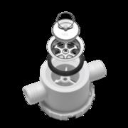 Сифон Dometic CRAMER/SMEV AC 557, патрубок двойн. угл., диам.=25мм