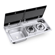 Варочная панель газовая с мойкойDometic MO 9722L (2 конф)